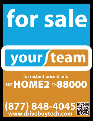 Real Estate Sale Sign with QR Code