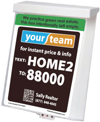 Real Estate Flyer Box with QR Code